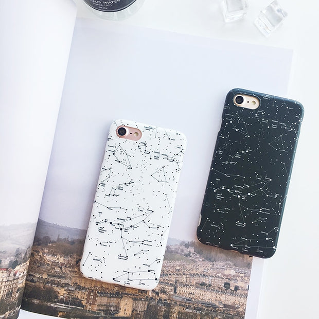 Starry Sky Constellation Phone Cases For Iphone X 7 7Plus For Iphone 6 6s 6Plus 6splus 8 8plus Galaxy Painted Soft TPU Cover