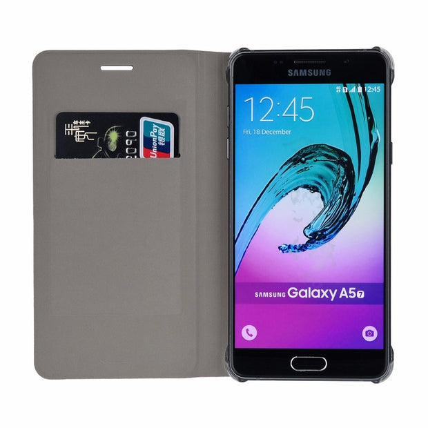 Stylish Design Wallet Leather PU Leather Case For Samsung Galaxy A5 2017