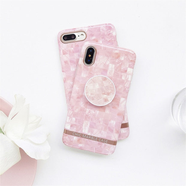 Stylish Soft Mosaic Pattern Case For IPhone7 8 Plus X Case For IPhone 6 6S Plus Case IMD Soft Cover Capa