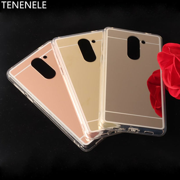 TENENELE Fashion Silicone Soft Case For Huawei Gr5 2017 Mirror Cover Make UP Coque Fundas Phone Capa For Huawei Gr5 2017 Cases