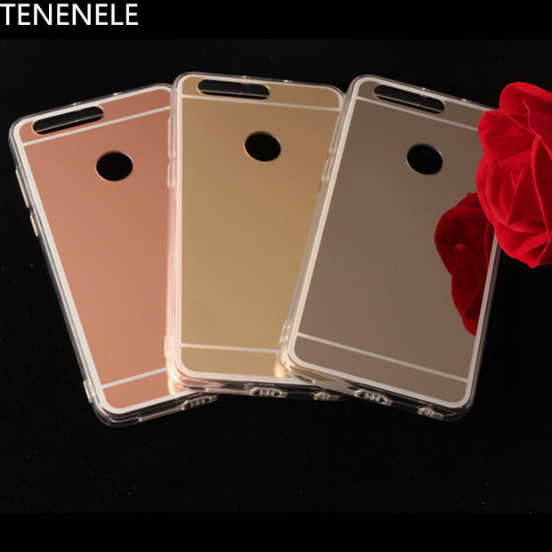 TENENELE Fashion Silicone Soft Case For Huawei Honor 8 Mirror Cover Make UP Coque Fundas Back Phone Capa For Huawei Honor8 Cases