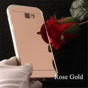 TENENELE Fashion Silicone Soft Case For Samsung Galaxy A7 2017 Mirror Cover Make UP Coque Fundas Capa For Samsung A7 2017 Cases
