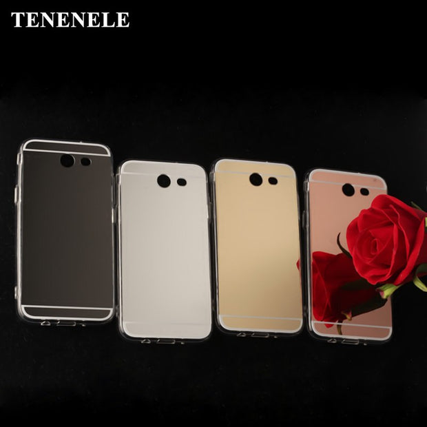 TENENELE Fashion Silicone Soft Case For Samsung Galaxy J3 2017 Mirror Cover Make UP Coque Fundas Capa For Samsung J3 2017 Cases