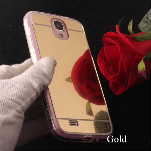 TENENELE Fashion Silicone Soft Case For Samsung Galaxy S4 Luxury Mirror Cover Make UP Coque Fundas Capa For Samsung S4 Cases