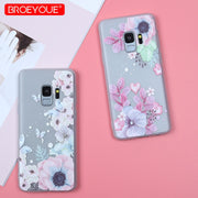 TPU Case For Samsung Galaxy S9 Plus S7 Edge S8 Plus J2 Pro 2018 J3 J5 J7 A3 A5 A7 2016 2017 J4 J6 2018 Soft Matte Flower Covers