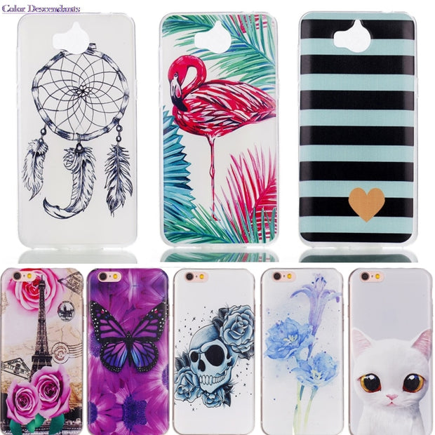 TPU Case Sfor Huawei Y6 2017 / Y5 2017 Silicone Cases Cover For Huawei Y5 2017 MYA-L02 MYA-L03 MYA-L22 MYA-L23 Phone Bags Y52017