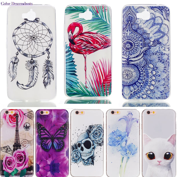 TPU Case Sfor Huawei Enjoy 5 Enjoy5 Silicone Cases Cover For Huawei Y6 Pro / Honor 4C Pro TIT-U02 TIT-L01 Phone Bags Y6Pro Capas