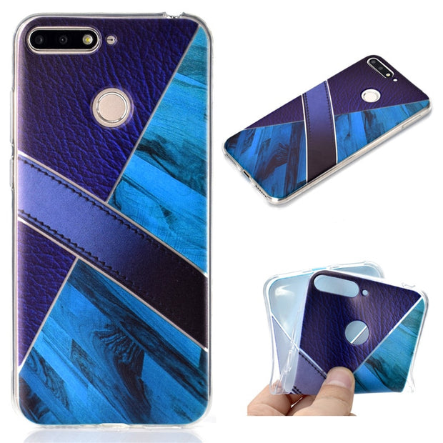 "TPU Soft Case For Huawei Honor 7A 5.7"" Transparent Printing Drawing Silicone Phone Cases Cover For Huawei Honor 7A"