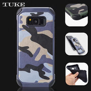 TUKE Anti-knock Hybrid PC + TPU Combo Armor Camouflage S 6 Edge Plus Phone Cover Case For Samsung Galaxy S6 Edge Plus G9280 G928