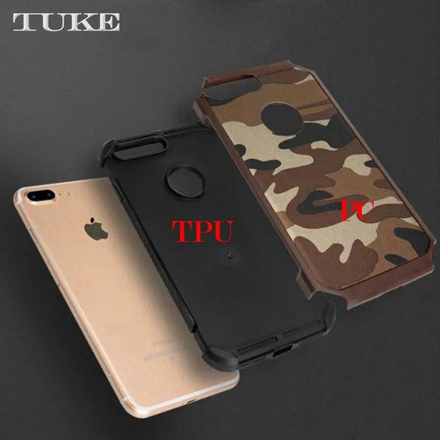 TUKE Camouflage Pattern Case For IPhone 5s Cover Silicone Hard PC Phone Case For Apple IPhone 5S Case For IPhone 5 5 S SE 5SE