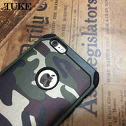 TUKE Camouflage Pattern Case For IPhone 6s Cover Silicone Hard PC Phone Case For Apple IPhone 6S Case For IPhone 6 6 S Funda