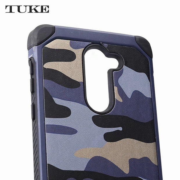 TUKE Camouflage Pattern For Huawei Honor 6X Case Silicone PC Hybrid Protective Cover For Huawei 6 X Mate 9 Lite GR5 2017 Cover