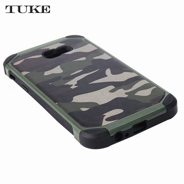 TUKE Case For Samsung Galaxy J5 Prime G570F Army Camo PC+TPU 2 In1 Anti-knock Protective Back Cover For Samsung On5 2016 G570