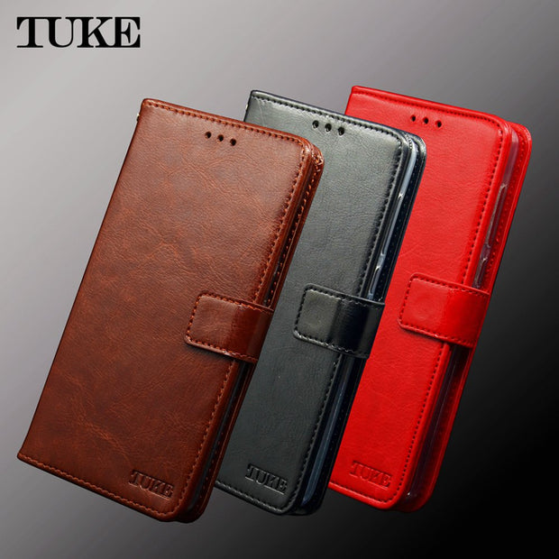 TUKE For Huawei Y5 2017 Case Cover Leather Wallet Coque For