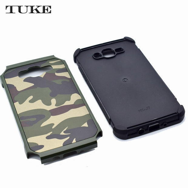 TUKE Hybrid PC+TPU Combo Armor Camouflage Phone Cover Case For Samsung Galaxy J5 2016 J510 J510F Shell Bag For Samsung J 5 2016