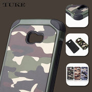 TUKE Phone Case For Samsung Galaxy A5 2016 SM-A510F Plastic TPU Hard Cover A 5 2016 Camouflage Armor Protect A510 A510F Shell
