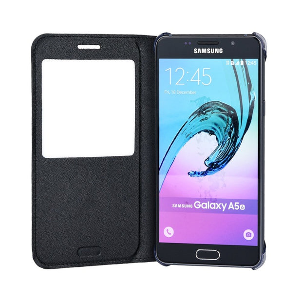 TYJTECH View Window Stand Flip Leather Cover For Samsung Galaxy A5 2016 PU Case For Samsung A510