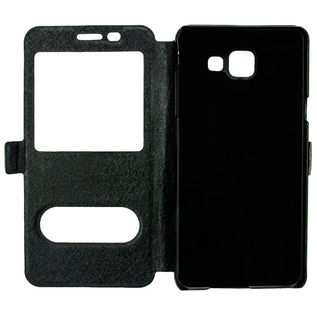 TYJTECH Window View Flip Cover Phone Cases For Samsung Galaxy A3 2016 A310 A300 Case With Kickstand