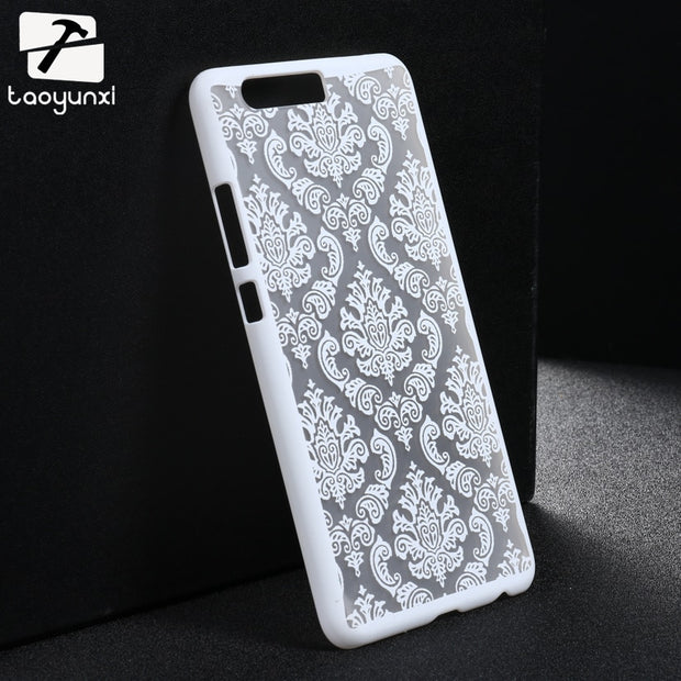 Taoyunxi Phone Case For Huawei P10 Plus Vicky Bag Cover Skin Shell Damask Vintage Flower Plastic For Huawei P10 Plus Case Covers