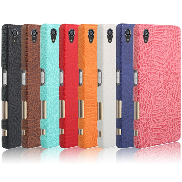TaryTan Crocodile Pattern Phone Covers For Sony Xperia Z5 Premium Z5 Plus E6853 Dual E6833 E6883 Cases Paste PU PC Bags Back
