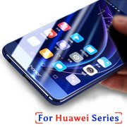 Tempered Glass For Huawei P Smart Honor 9 8 Lite 6c 7x 6a 6x P20 Lite Y6 Pro 2017 Plus Y7 Prime Y3 2017 Y5 III 3 Full Cover Case