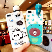 Three-Dimensional Cartoon Panda/Dinosaur Mobile Phone Case Dirt-Resistant All-inclusive Protective Cover For Apple 8plus 1PC J3