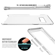 Transparent Case For Samsung Galaxy Note 8 TPU Front Frame + PC Back 2 In 1 Full Cover For Galaxy Note 8 Phone Cases