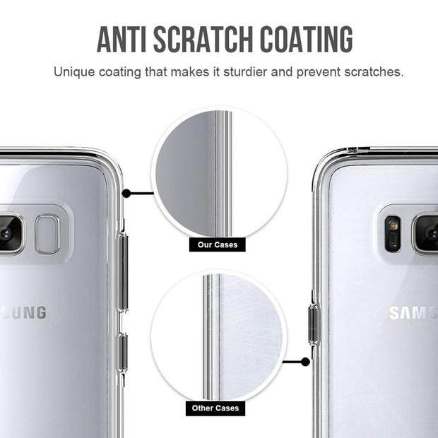 Transparent Case For Samsung Galaxy S8 TPU Front Frame + PC Back 2 In 1 Full Cover For Samsung Galaxy S8 Plus Phone Cases