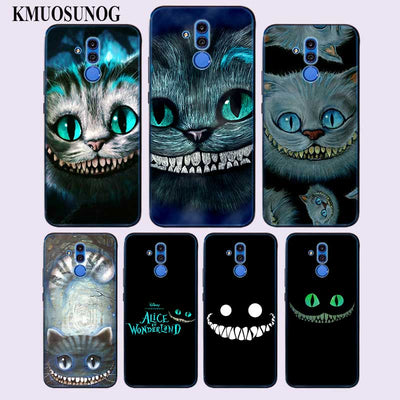 Transparent Soft Silicone Phone Case Alice In Wonderland Cheshire Cat For Huawei Mate Honor 20 10 9 Pro Lite 7C Cover