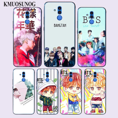 Transparent Soft Silicone Phone Case BTS Bangtan Young For Huawei Mate Honor 20 10 9 Pro Lite 7C Cover