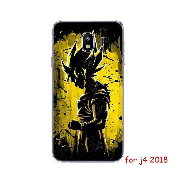 Lovely Silicone Soft Phone Case Dragon Ball Z Goku For Samsung Galaxy J8 J7 J6 J5 J4 J3 Prime Plus 2018 2017 2016 Various Styles Fitted Cases
