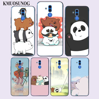 Transparent Soft Silicone Phone Case We Bare Bears For Huawei Mate Honor 20 10 9 Pro Lite 7C Cover