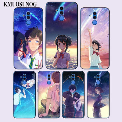 Transparent Soft Silicone Phone Case Anime Your Name For Huawei Mate Honor 20 10 9 Pro Lite 7C Cover