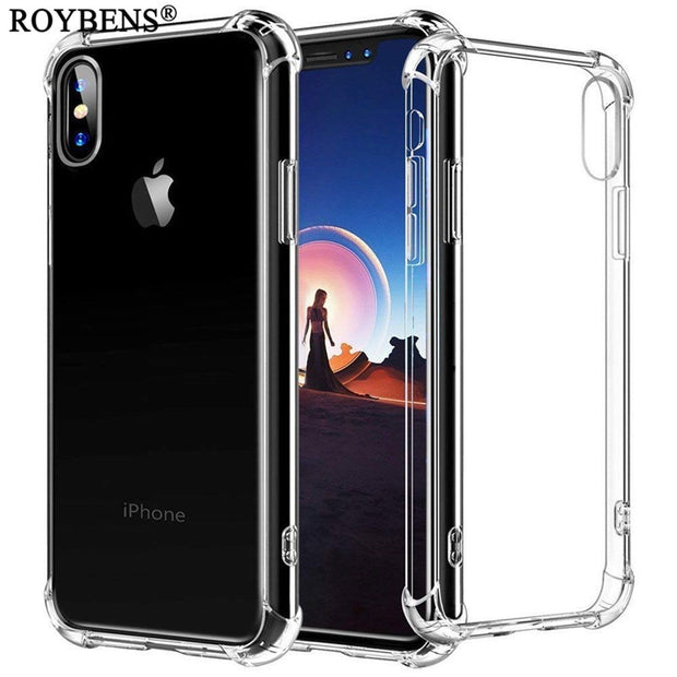 Transparent TPU Case For IPhone XS Max Crystal Clear Soft Silicone Case For IPhone XR 6.1 Inch Shockproof Back Phone Covers Capa