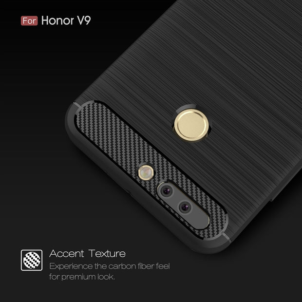 UVR For Huawei Honor 8 Pro Case Carbon Fiber Soft TPU Silicon Brushed Back Cover Full Protection For Huawei Honor V9 Phone Cases