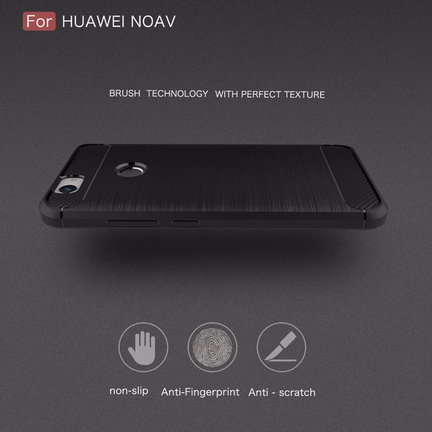 UVR For Huawei Nova Cover Shockproof Silicone Brushed Style Cases For Huawei Nova Plus Case Shockproof Silicone
