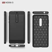 UVR For Nokia 5 Case Environmental Carbon Fiber Soft TPU Brushed Anti Back Cover For Nokia5 Lumia Cover Phone Bags Shell