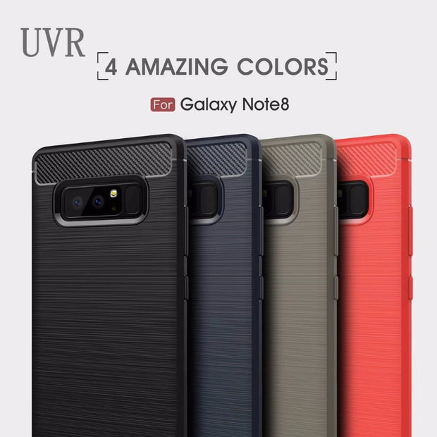 UVR For Samsung Galaxy Note 8 Case Phone Cases Carbon Fiber Protective Back Cover Mobile Phone Cases For Samsung Note8 Cover
