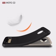 UVR Phone Cases For MOTO Z2 Case Environmental Carbon Fiber Soft TPU Brushed Anti-Skid Anti-knock Back Cover For MOTO Z2 2017