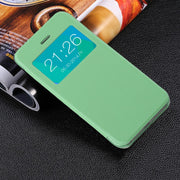 Ultra Thin Luruxy Mobile Phones Smart Flip Case Cover Hard Back Protecting Shell For IPhone5 5S SE 7