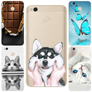 Ultra Thin Originality Durable Chocolates Cat Dog Butterfly For Xiaomi Redmi 3 3S 4A 4X 4 4S Mi A1 Mi 5X Note 3 4 4X 5A Cases