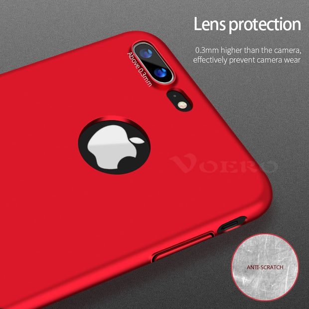 VOERO Luxury Ultra-thin Phone Case For IPhone 6 6S 7 8 Plus Hard PC Protection Phone Cover Cases For IPhone 7 8 6 Plus 6s Case