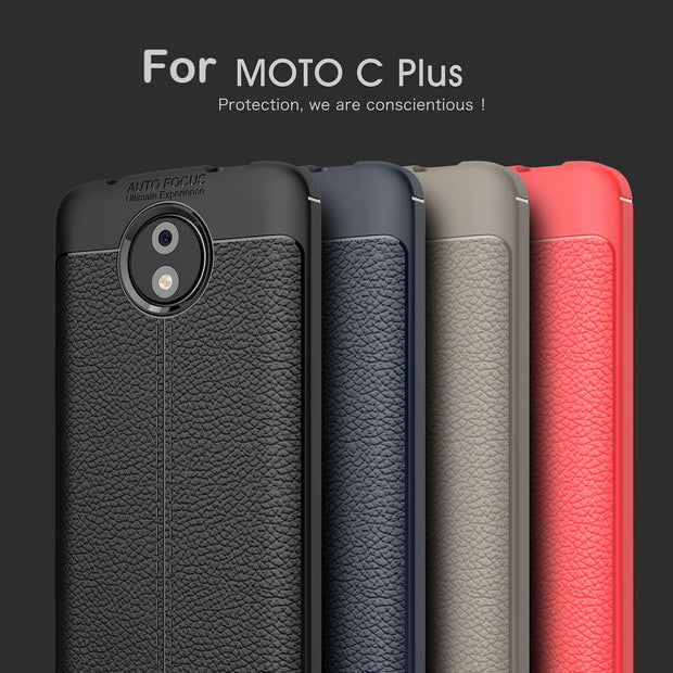 VOONGSON C+ Phone Back Cover Shell For Motorola Moto C Plus Case ShockProof Soft Silicone Case For Lenovo Moto C Plus TV XT1726