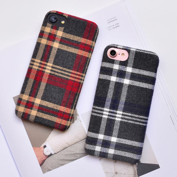 8673900157a4 Vintage Fabric Cloth Lattice Pattern Case For IPhone X Xs Max Xr Grid
