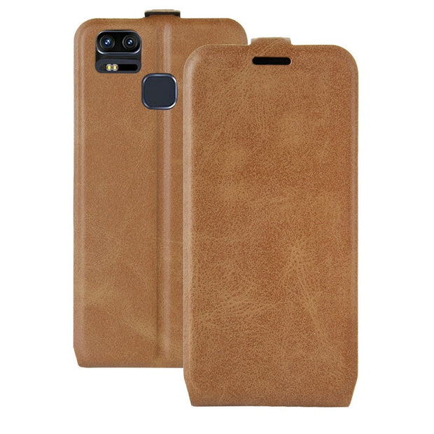 WIERSS Luxury Flip Leather Case For Asus Zenfone 3 Zoom ZE553KL 5.5'' Case Retro Wallet Leather Cover Cases Fundas Coque Etui>