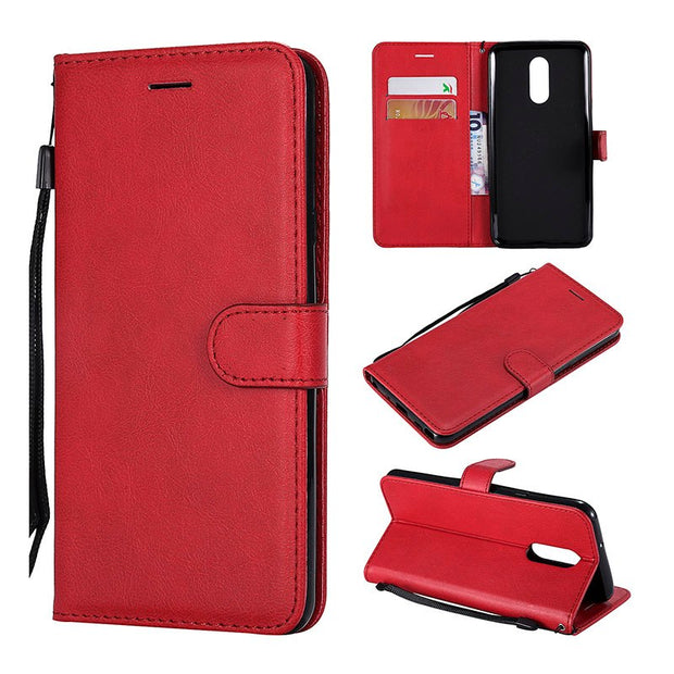 54aab9ebcb45 Wallet Case For LG Stylo 4 Case Flip Leather Luxury Vintage Phone ...