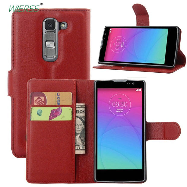 premium selection 62a55 c0cf9 Wallet Flip Leather Case For LG Spirit 4G LTE Dual SIM H440N H440H H440Y  H422 Phone Leather Back Cover Case With Stand Etui>