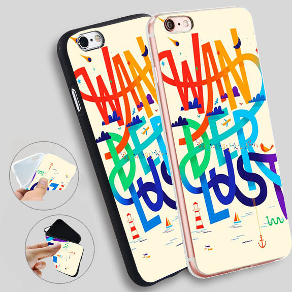coque iphone 8 silicone wanderlust