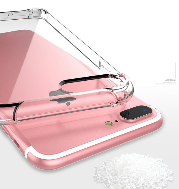 Wangcangli Case For Iphone 8 Explosion-proof Transparent Soft Case Silicone For Iphone 5s 6 6plus 7 Plus 8 Plus X