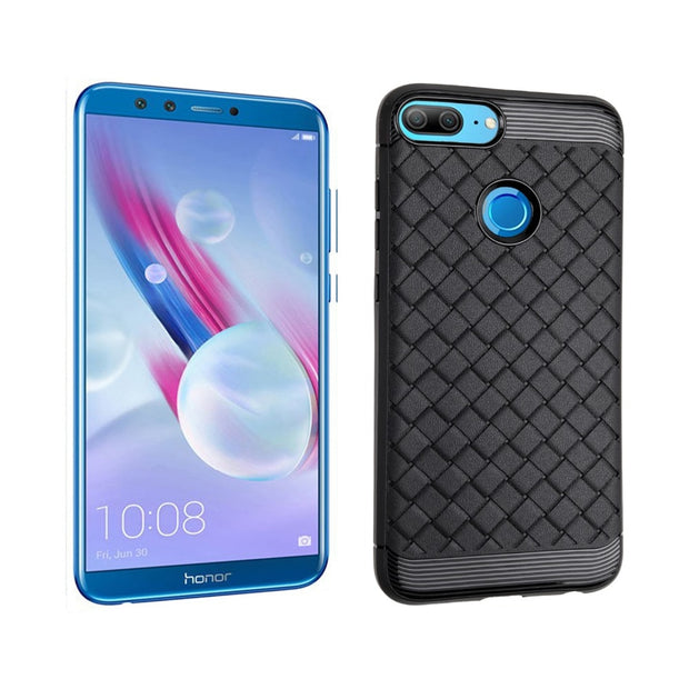 WeeYRN Silicone Case For Huawei Honor 9 Lite Luxury Back Cover For Huawei Honor 9 Lite Black Case TPU Weaving Coque Carcasa